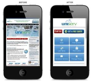before and after mobile site
